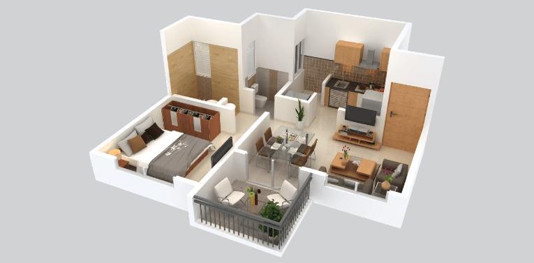 Kohinoor Abhimaan Homes - Floor Plan